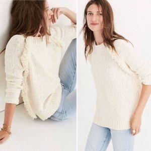 Madewell Loop Edge Sweater Cream Size Medium